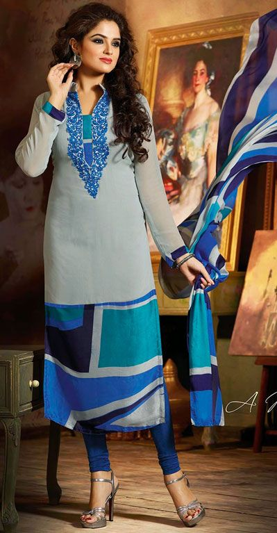 Latest Indian Designer Churidar Suits Salwar Kameez Collection 2015-2016 (6)
