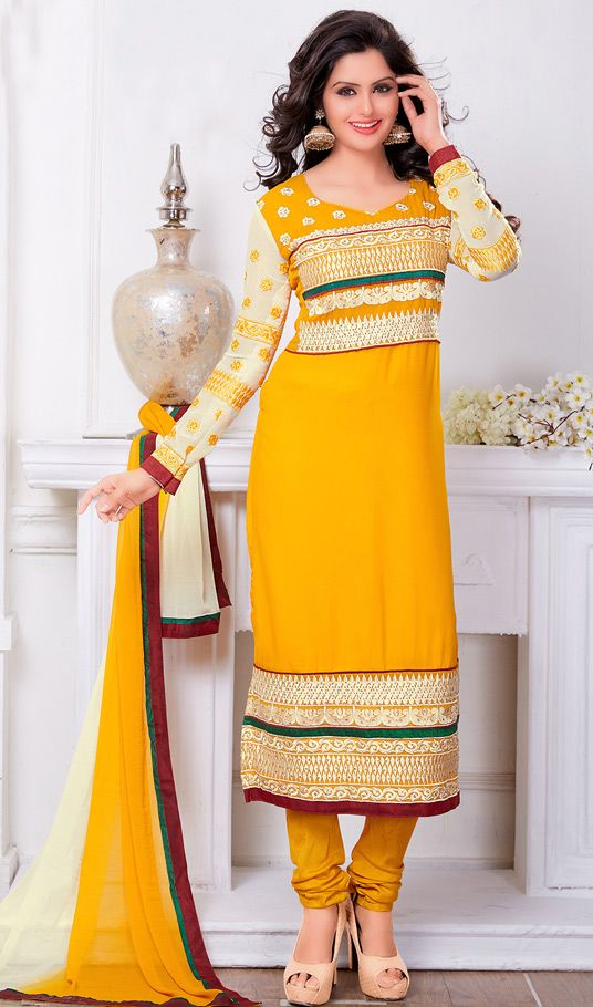 Latest Indian Designer Churidar Suits Salwar Kameez Collection 2015-2016 (7)