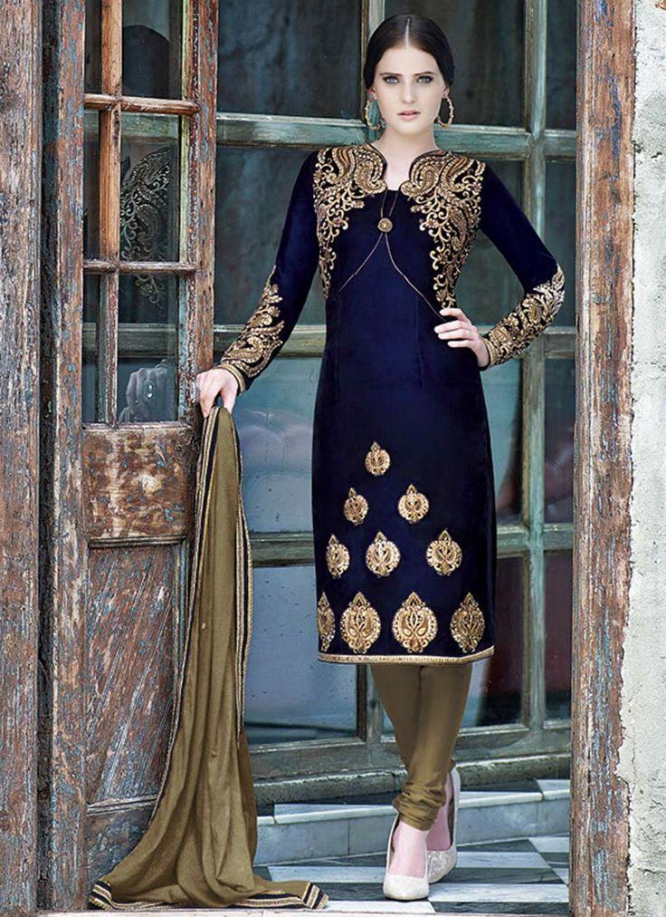 Latest Indian Designer Churidar Suits Salwar Kameez Collection 2015-2016 (9)