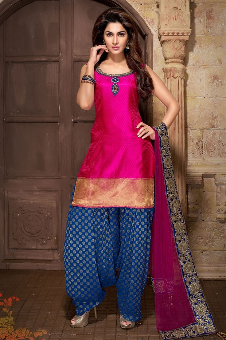 Latest Fashion Trend In Saree: Latest Indian Patiala Salwar Kameez Suits Collection 2019