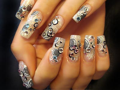 Best & Amazing Rhinestone Nail Arts (8)