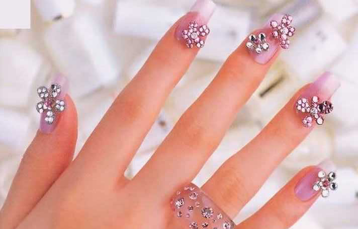 Best & Amazing Rhinestone Nail Arts (9)
