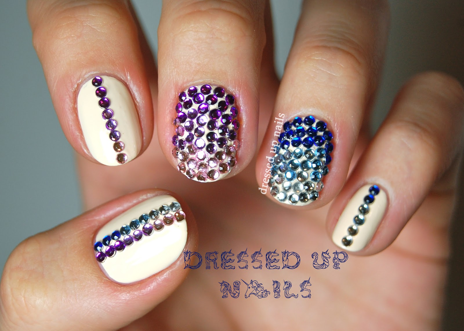 best rhinestone nail arts
