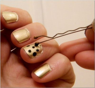 Lines and Polka Dot Nail Arts (9)