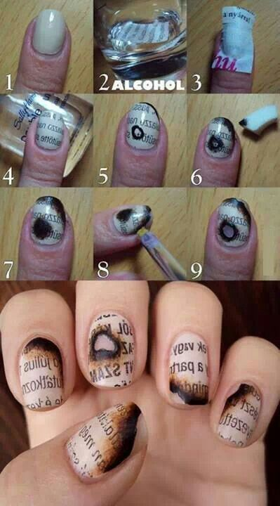 Newspaper nail arts (2)