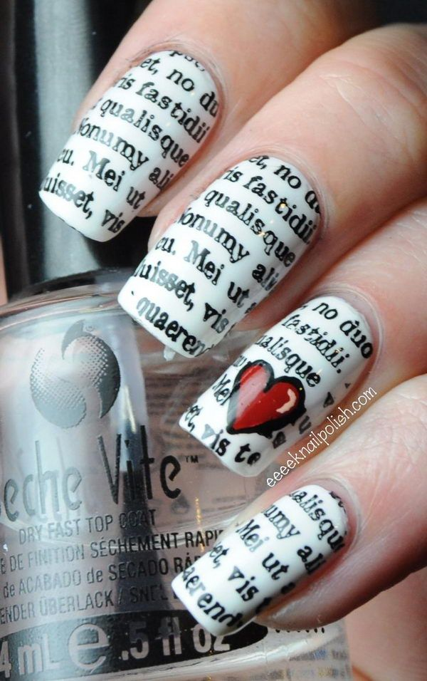 Newspaper nail arts (4)