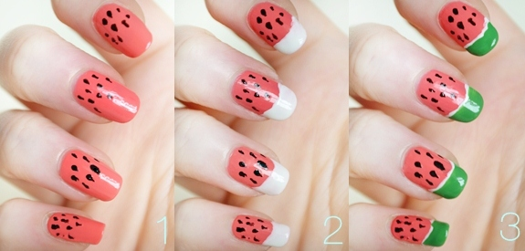 Watermelon Nail-art designs