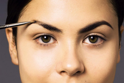 overarched eyebrows