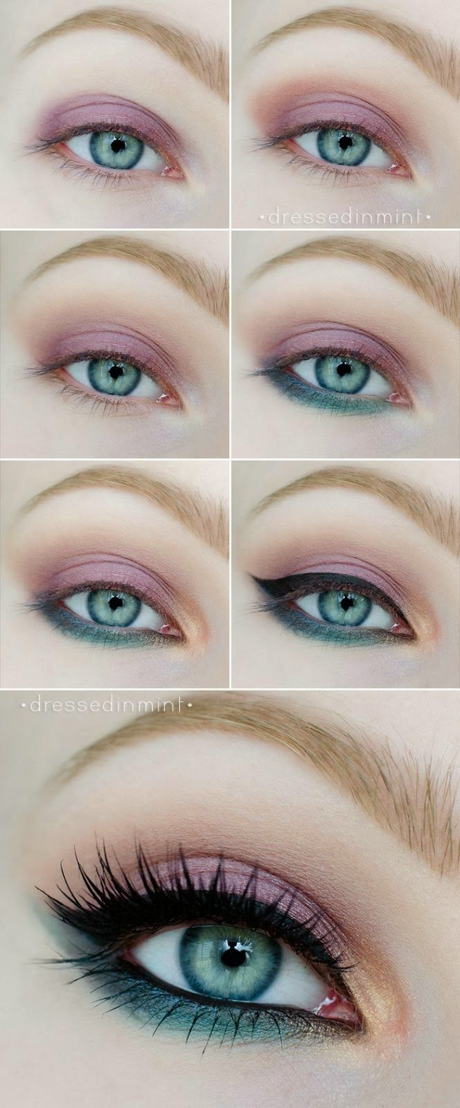 step by step pastel makeup for eyes (2)