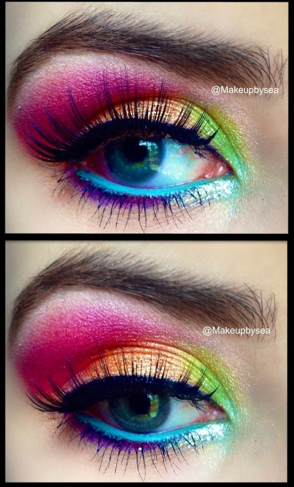 step by step pastel makeup for eyes (3)