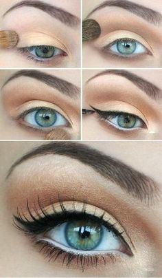 step by step pastel makeup for eyes (4)