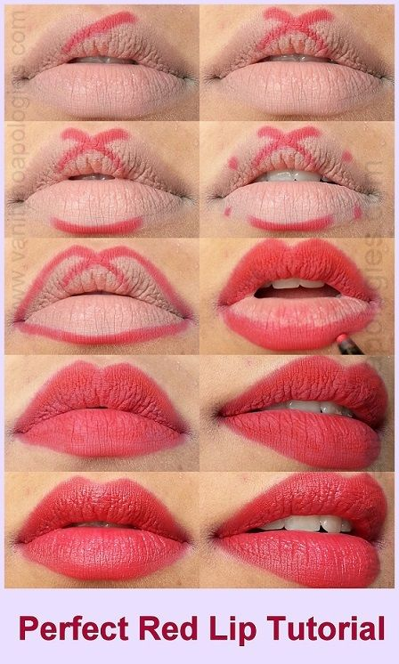 Bold Red Lipstick Tutorial Step by Step for Christmas (3)