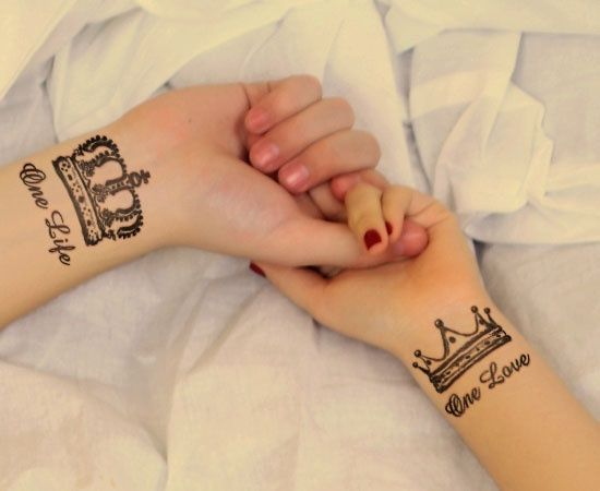 King & Queen Couple Tattoo Designs