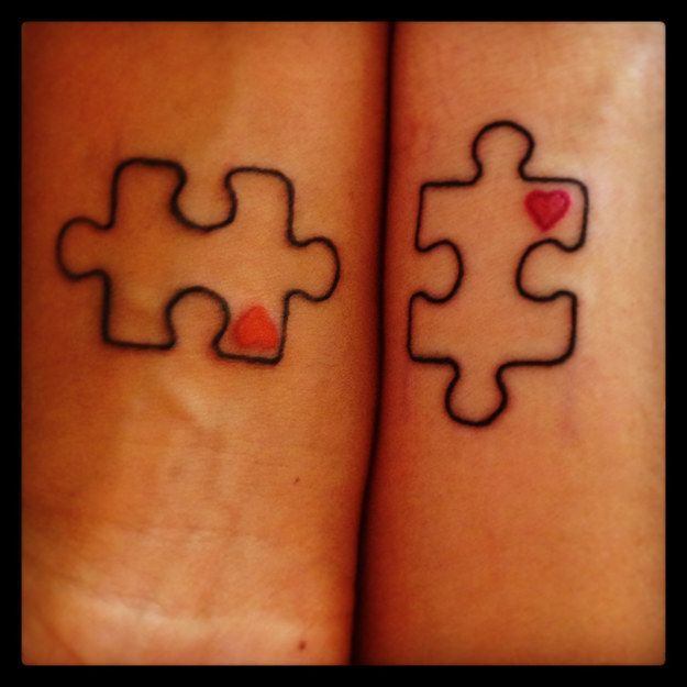 Missing puzzle couple tattoos 1