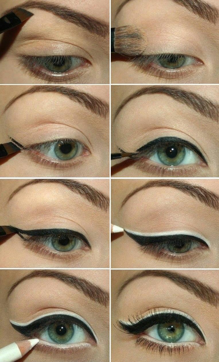 Retro Vintage eyeliner styles tutorial (1)