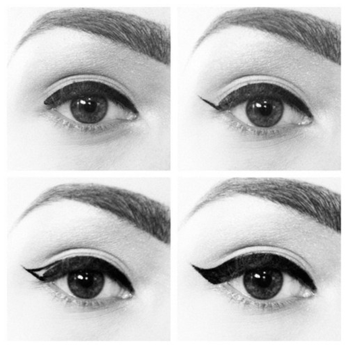 cat eyeliner styles Tutorial (3)