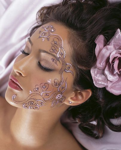 women tattoos for face