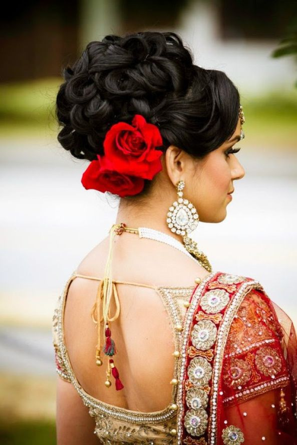 Indian Wedding Hairstyle Trends 2016-2017 for Bridals (2)