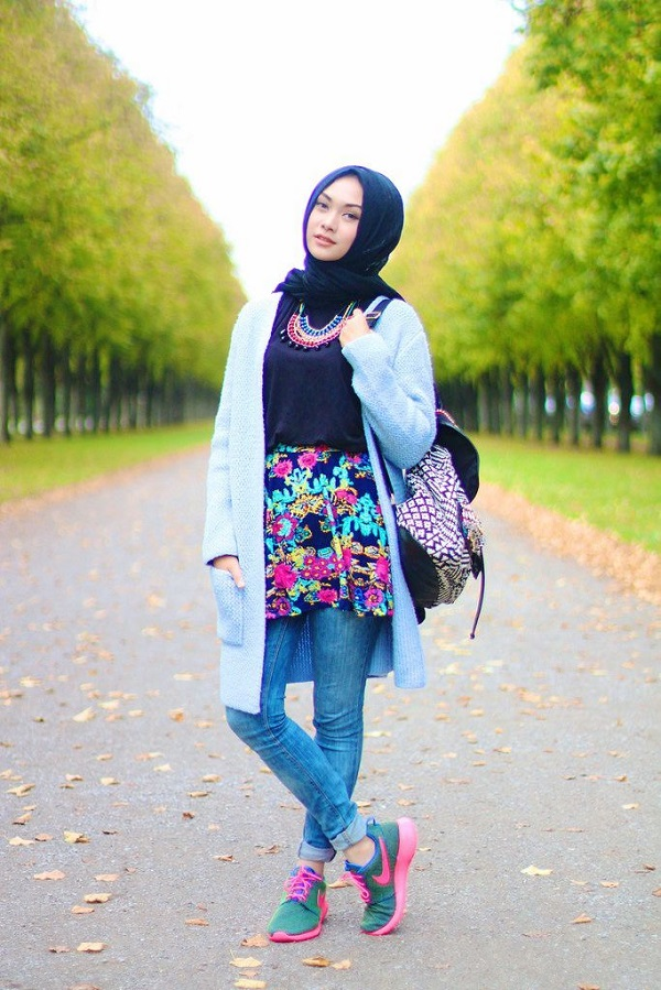 Latest Trends of Casual Wear Hijab Styles with Jeans 2016-2017 (1)