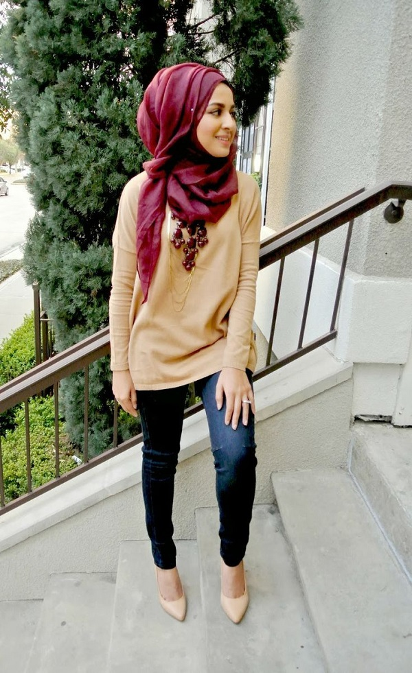 Latest Trends of Casual Wear Hijab Styles with Jeans 2016-2017 (12)