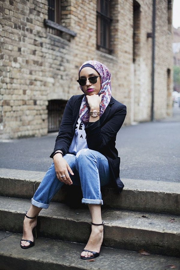 Latest Trends of Casual Wear Hijab Styles with Jeans 2016-2017 (15)