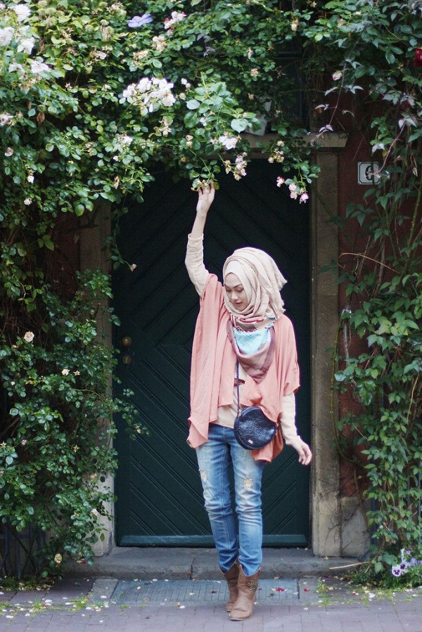 Latest Trends of Casual Wear Hijab Styles with Jeans 2016-2017 (17)