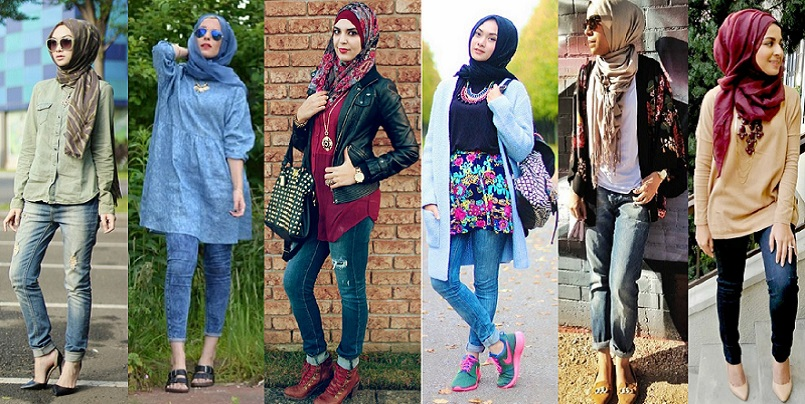Latest Women Casual Hijab Styles With Jeans Trends 2018 2019