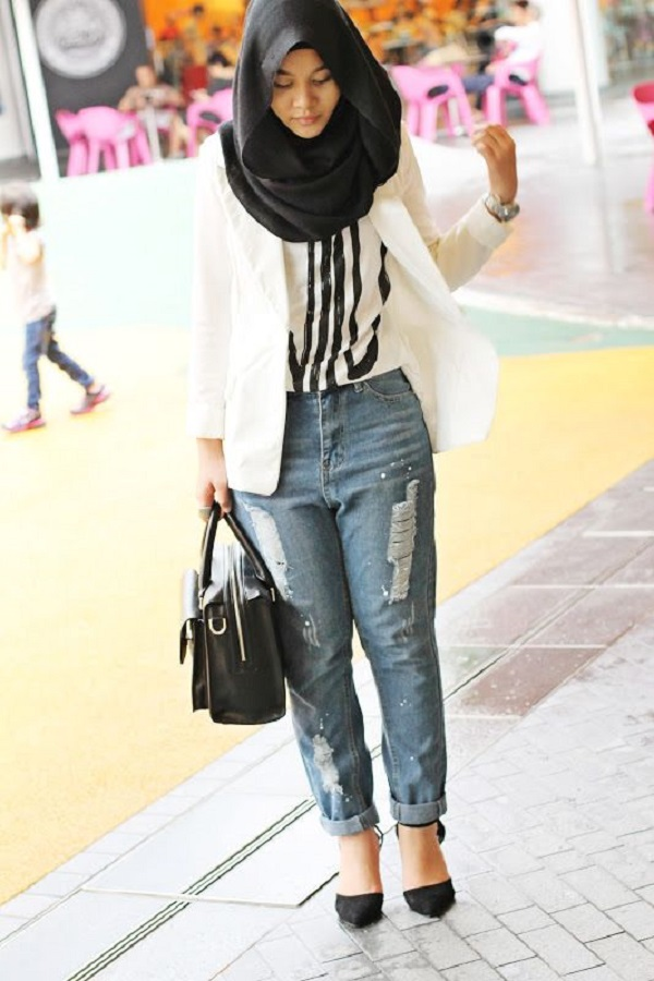 Latest Trends of Casual Wear Hijab Styles with Jeans 2016-2017 (3)