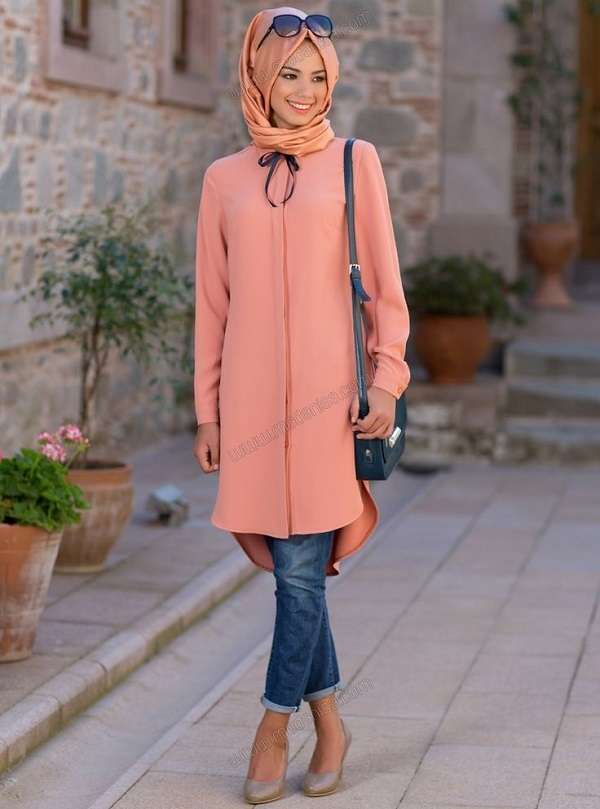 Latest Trends of Casual Wear Hijab Styles with Jeans 2016-2017 (4)