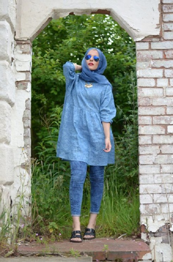 Latest Trends of Casual Wear Hijab Styles with Jeans 2016-2017 (8)