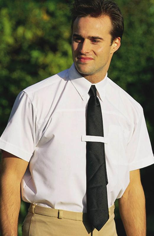 half sleeves shirt with tie
