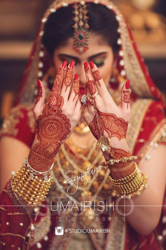 Latest Bridal Mehandi Designs Trends for Weddings (10)