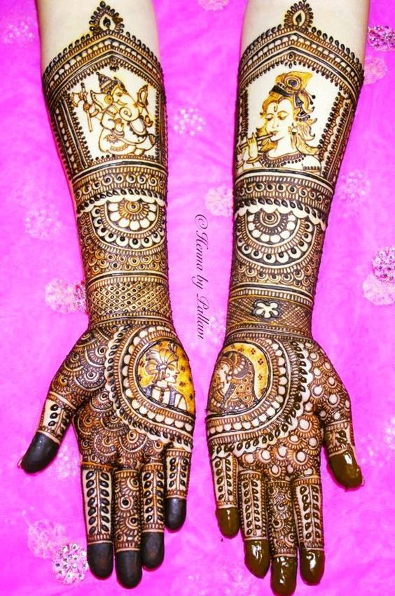 Latest Bridal Mehandi Designs Trends for Weddings (8)