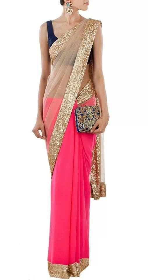 Mahish Malhotra Designer Saree Trends & Designs Collection 2016-2017 (16)