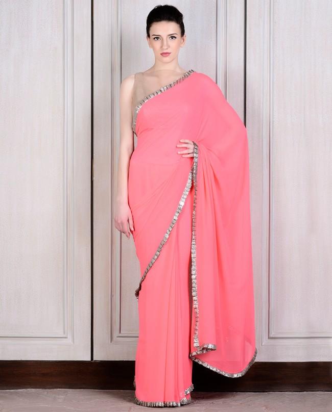 Mahish Malhotra Designer Saree Trends & Designs Collection 2016-2017 (18)