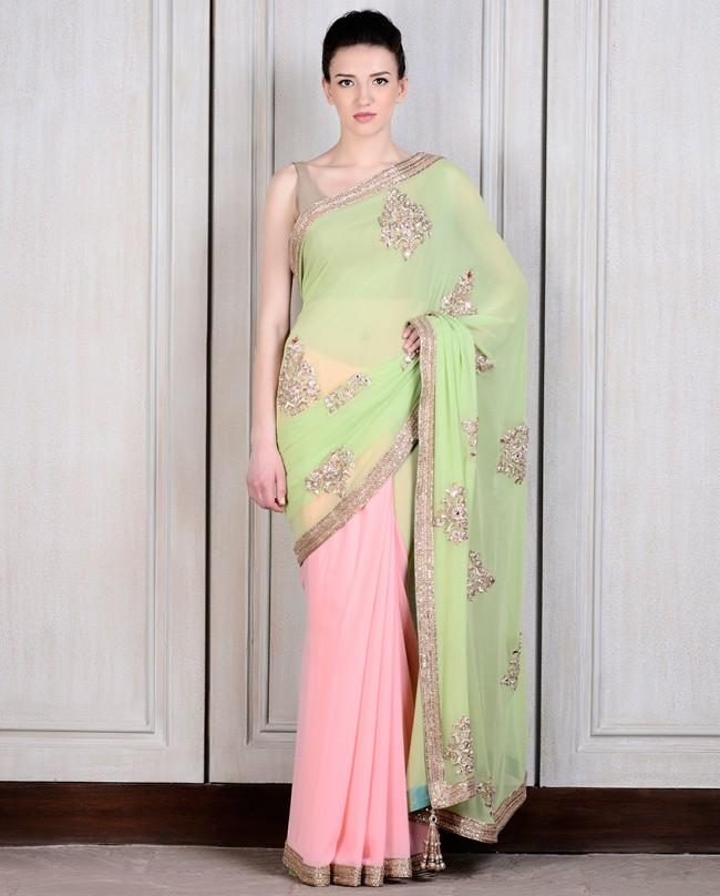 Mahish Malhotra Designer Saree Trends & Designs Collection 2016-2017 (19)