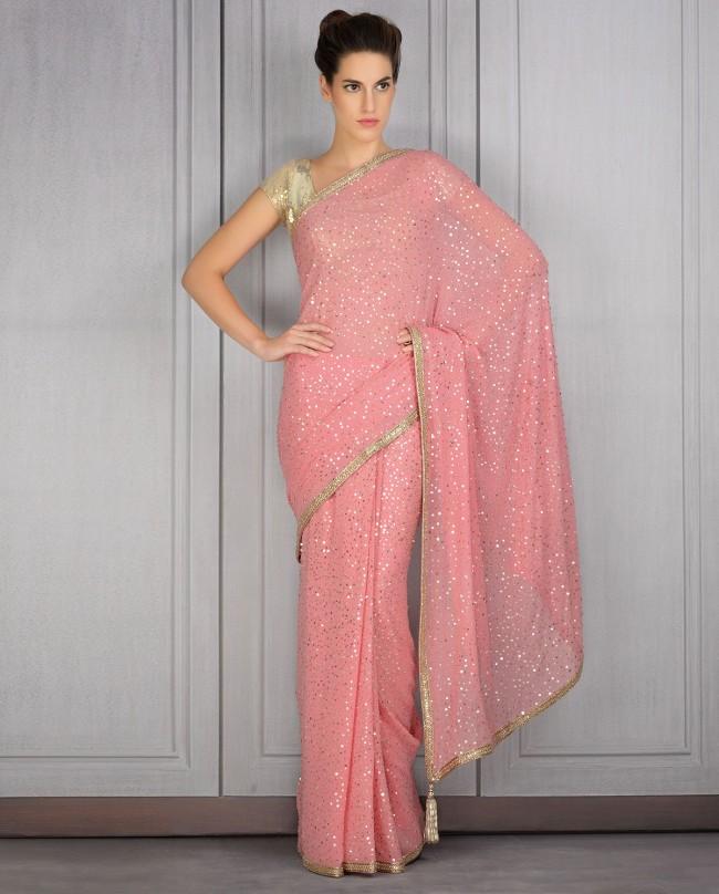 Mahish Malhotra Designer Saree Trends & Designs Collection 2016-2017 (2)