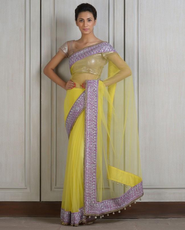 Mahish Malhotra Designer Saree Trends & Designs Collection 2016-2017 (3)