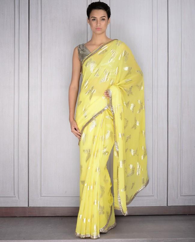 Mahish Malhotra Designer Saree Trends & Designs Collection 2016-2017 (4)