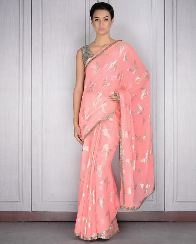 Mahish Malhotra Designer Saree Trends & Designs Collection 2016-2017 (5)