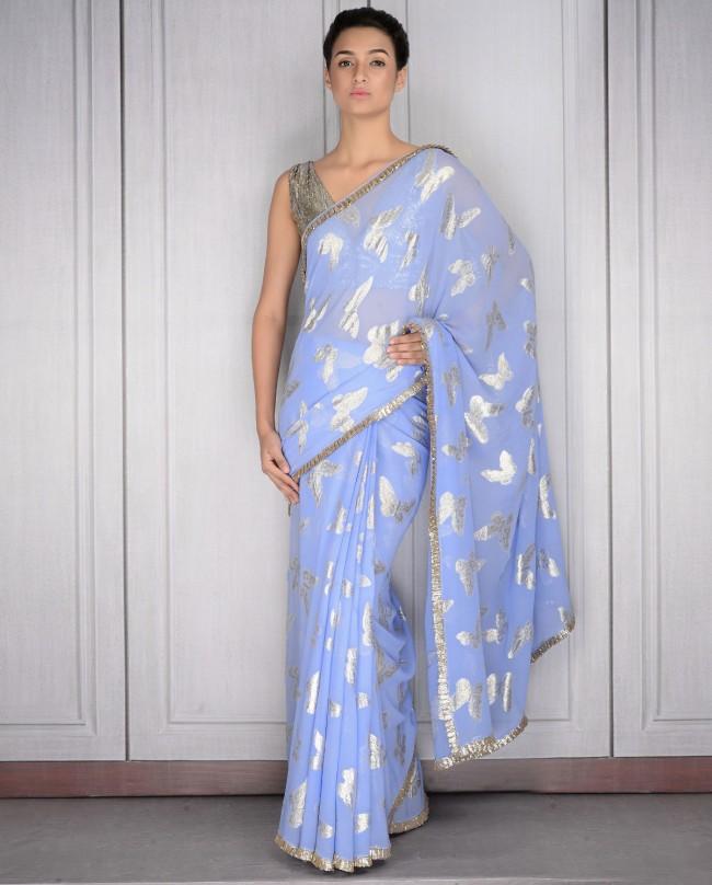 Mahish Malhotra Designer Saree Trends & Designs Collection 2016-2017 (6)