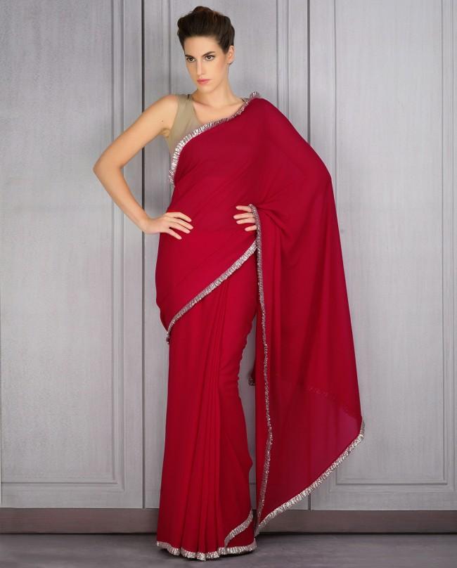 Mahish Malhotra Designer Saree Trends & Designs Collection 2016-2017 (8)