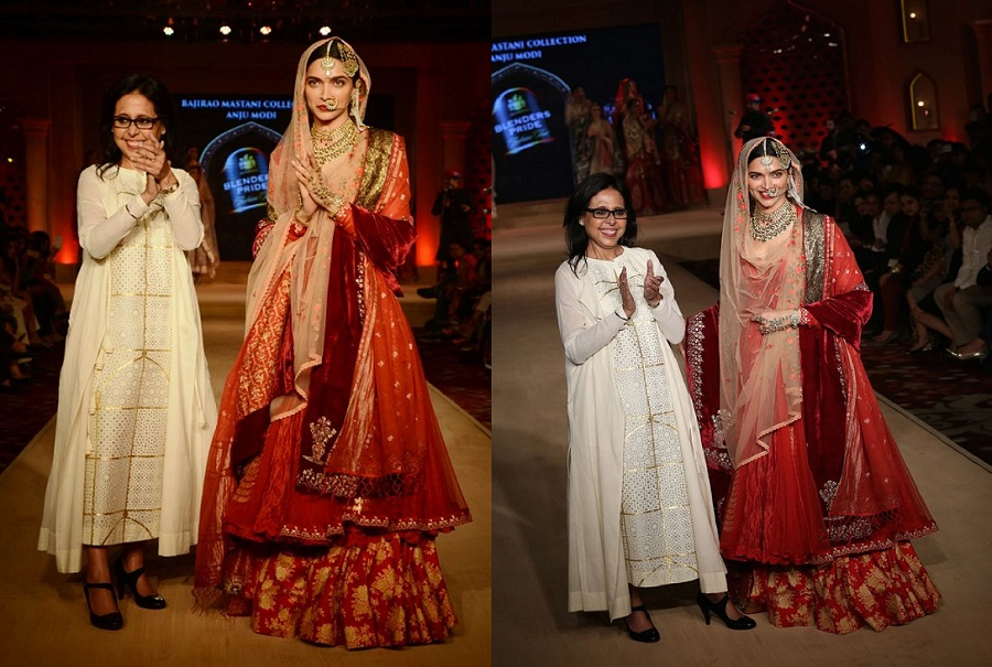 Deepika as Mastani in Anju Modi's Dresses Bajirao Mastani Collection (3)