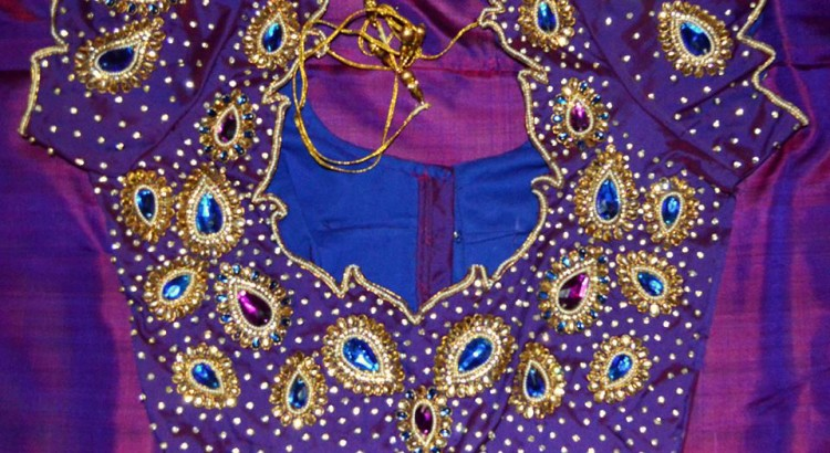 Kundan Embroidered Sarees (2)