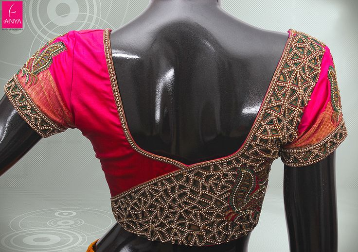 Stonework Embroidered Sarees (1)