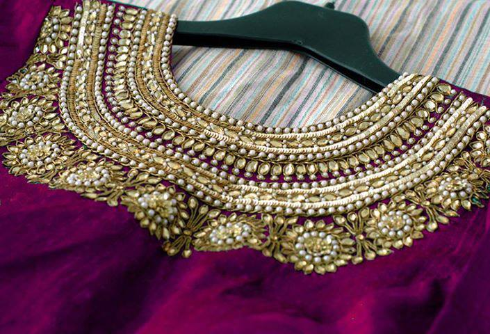 Stonework Embroidered Sarees (7)
