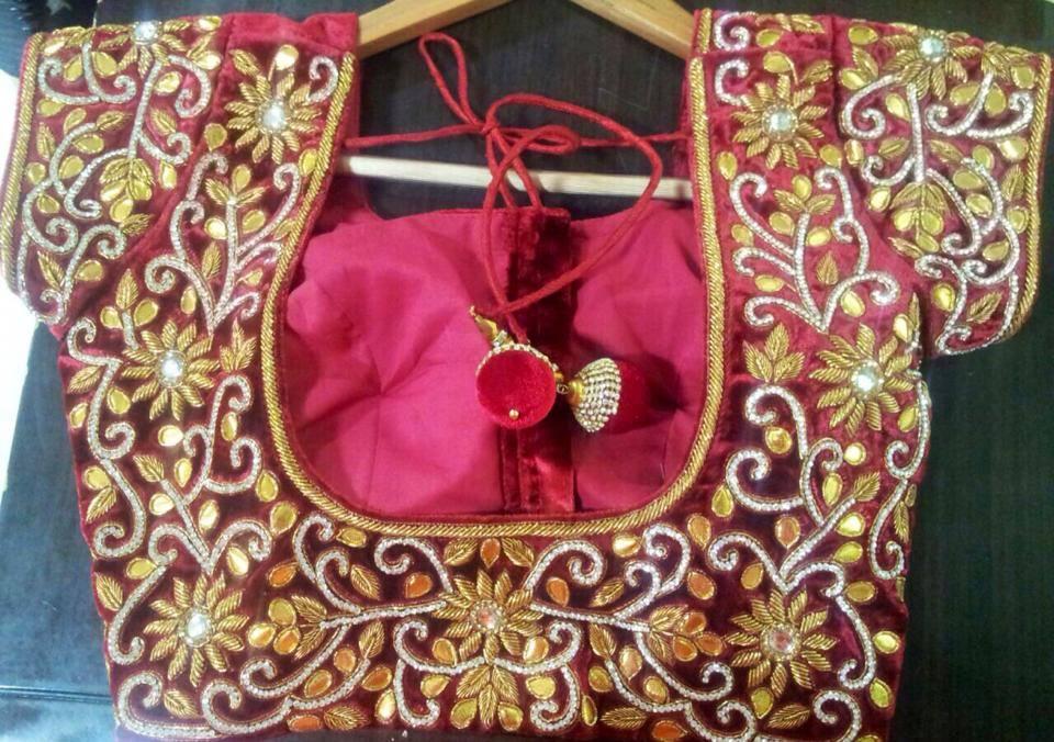 Zardosi Work Sarees (5)