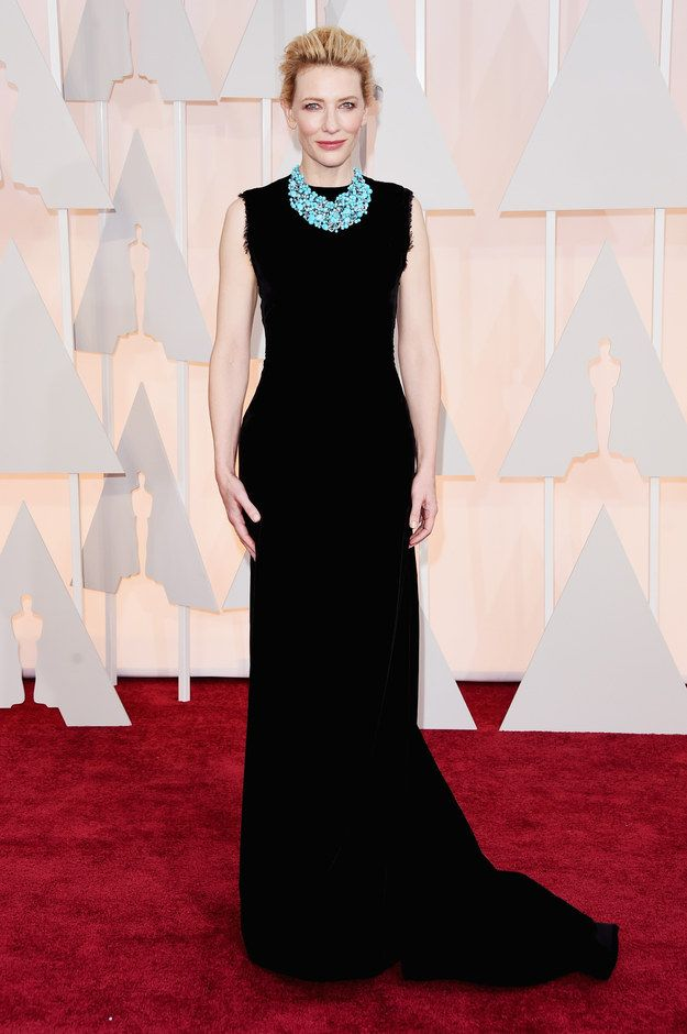 Cate Blanchett in a Maison Margiela Couture dress and Tiffany Blue Book Collection jewelry