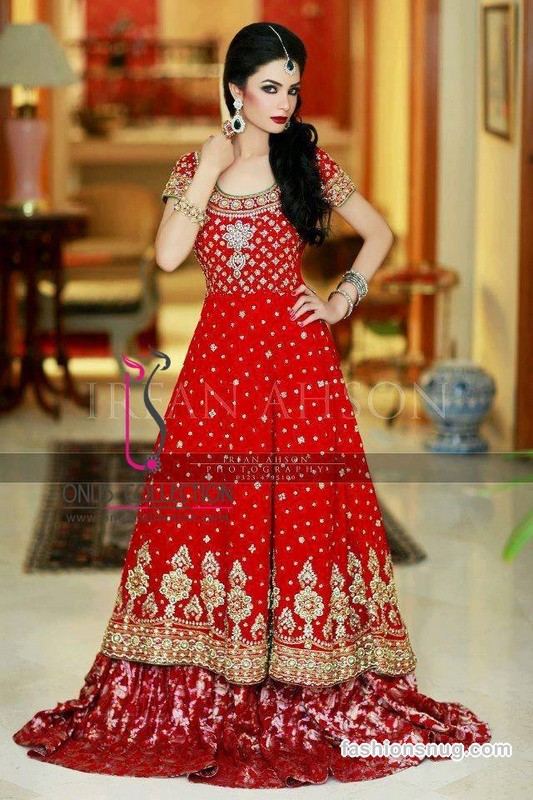 Latest Barat Day Wedding Dresses Designs Collection 2016-2017 (3)