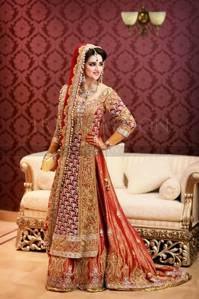 Latest Barat Day Wedding Dresses Designs Collection 2016-2017 (4)
